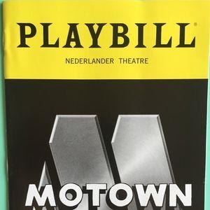 Playbill Motown The Musical  2016  Broadway Return